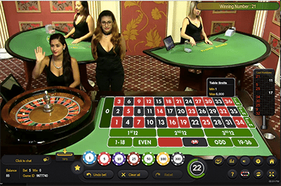 Lice dealer roulette by Ezugi at GDayCasino.com