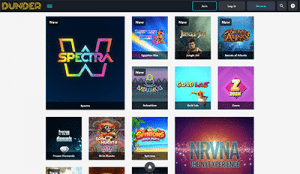 Dunder online casino games