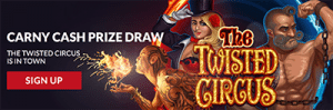 Carny Cash prize bonuses at Guts Casino