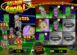 Golden Ghouls online instant scratch card
