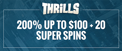 Thrills Casino welcome bonus package