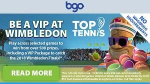 Wimbledon 2018 VIP tickets promotion BGO
